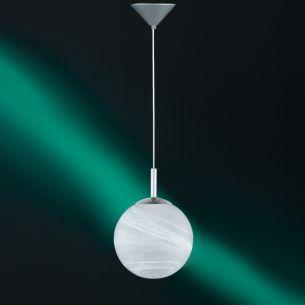 Modernes Leuchtenpendel aus weißem Alabasterglas - in 4 Größen lieferbar