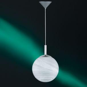Modernes Leuchtenpendel aus weißem Alabasterglas - Ø25cm 1x 77 Watt, 25,00 cm