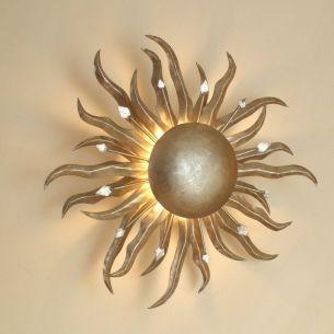 Die Sonne Wand-oder Deckenleuchte in silber