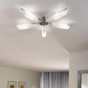 Deckenlampe in Sonnenstrahloptik