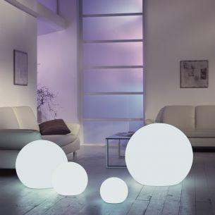 Flexibel einsetzbare Lichtszene MOONLIGHTS - Kugelleuchten, Ø von 25cm bis 75cm wählbar, mit 5 Meter Kabel und Stecker