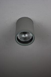 Runder Downlight in moderner Optik - silbergrau grau/silber