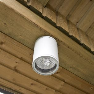 Runder Aussendownlight in moderner Optik - weiß weiß, 13,60 cm