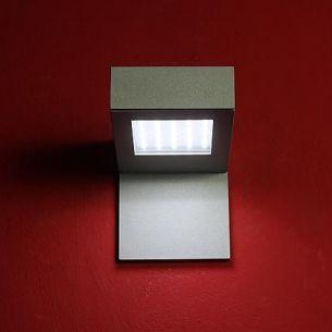 LED-Aussenwandleuchte mit Schild für Hausnummer 30 LEDs