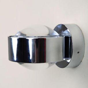 Wandleuchte PUK WALL zur eigenen Inszenierung - in Chrom silber, Chrom/glänzend
