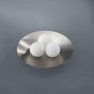 3 Lichtobjekte serviert in einer Schale! Tischlampe mal anders!