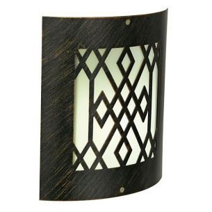 Orientalisch anmutende Wandlampe für Energiesparlampe