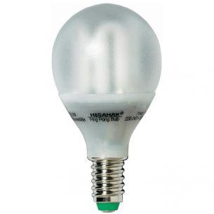Energiesparlampe Ping Pong E14  7W mit transparentem Gehäuse 1x 7 Watt, B, 286,0 Lumen, Gehäuse transparent