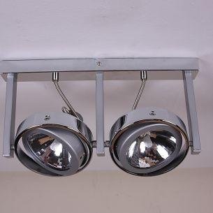 Strahler mit 2 Achsen, 2 flammig, inklusive Leuchtmittel