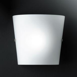 Wandleuchte mit weißem Glas, schlichtes Design vielseitig einsetzbar