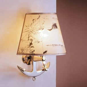 Einzigartige Wandlampe mit Anker aus Messing für alle Seefahrer