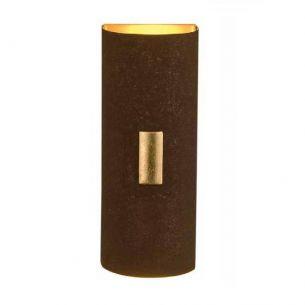 Wandleuchte SOLO, Blende aus Eisen Rost mit Applikationen Blattgold gold/rost, Rost