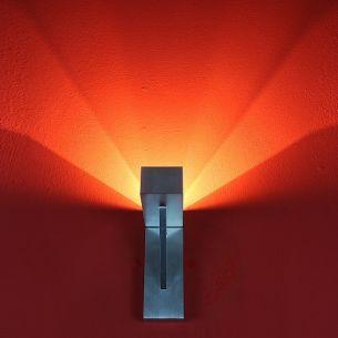 Wandleuchte mit teilsatinierter Glasabdeckung, inklusive Leuchtmittel
