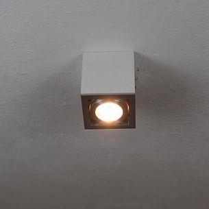Deckenleuchte in weiß mit schwenkbarem Spot, inklusive Leuchtmittel