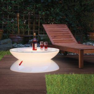 Beleuchteter Beistelltisch LOUNGE OUTDOOR Tisch von Moree - Ø84cm