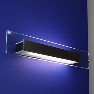 Wandleuchte mit Glasplatte, Energie sparend, inklusive EVG