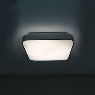 Deckenleuchte mit satinierter Acrylglasabdeckung, inklusive Leuchtmittel 22W