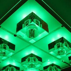 Deckenleuchte mit LED Farbwechsel, inklusive Leuchtmittel, 9 flammig