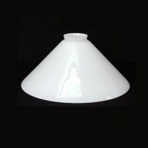 Mundgeblasenes Opalglas in weiß - Durchmesser 25 cm
