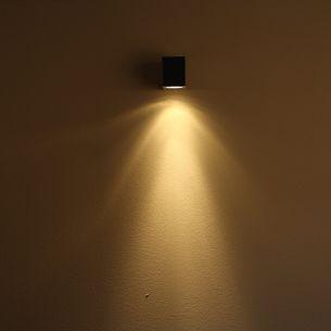 Außenwandleuchte aus Edelstahl mit Lichteffekt, inklusive Leuchtmittel