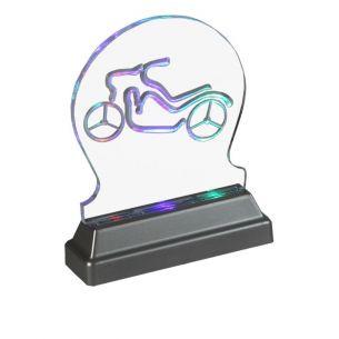 Dekorative LED-Leuchte aus Acryl - LED Multicolour mit autom. Farbwechsel, Batteriebetrieben