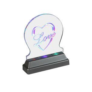 Dekorative LED Leuchte aus Acryl - LED Multicolour mit autom. Farbwechsel, Batteriebetrieben