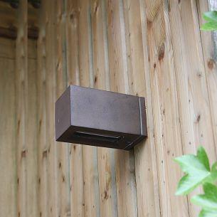 Außenbereich Wandleuchte aus Aluminiumdruckguss rostfarben, IP54