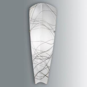 Wandlampe mit filigraner schwarzer Struktur