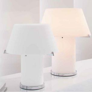 JOOP! CONE LIGHTS aus Opalglas weiß, Tischlampen wählbar in 3 Größen