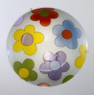 Flower-Power im Kinderzimmer,  by Fly Design, Durchmesser 40cm 2x 60 Watt, A++ - E, 40,00 cm