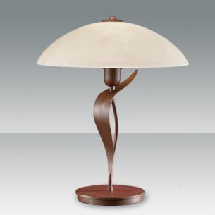 Tischlampe, Design im Landhauslook mit schönem Scavo-Strukturglas, Design Fly Design