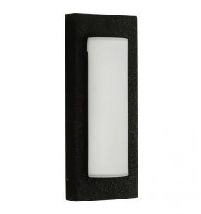 Wand- oder Deckenleuchte in schwarz, Energie sparend, Opalglas schwarz