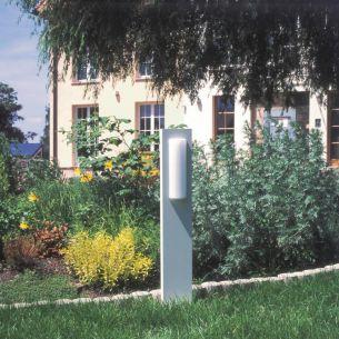 Wegeleuchte aus Aluminiumguss in weiß oder schwarz, Energie sparend, Opalglas, Höhe 90cm