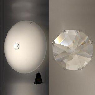 Wand- und Deckenleuchte mit großem Strass Swarowski Kristall, in 4 verschiedenen Durchmessern