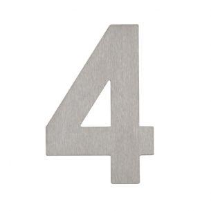 Hausnummer 4 aus Edelstahl Hausnummer 4