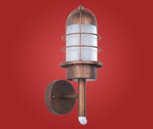 Kupferfarbene Gartenlampe mit Bewegungssensor für die Wand im klassischen Stil