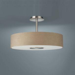 Moderne Deckenlampe in schlichter Form - creme hellbraun-  cafelatte creme/hellbraun