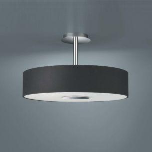 Moderne Deckenlampe in schlichter Form - schwarz schwarz/silber/stahlfarbig