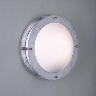 Leuchte in Bullaugenoptik für den Aussenbereich mit Schlagschutz,  15 Jahre Korrosionsschutz-Garantie