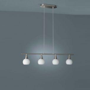 Energiesparende Pendelleuchte mit Opalglas und mit Energiesparlampen