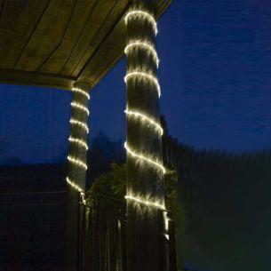 LED Lichterschlauch für Außen, in warm weiß, bunt, blau oder rot, Länge 9 Meter