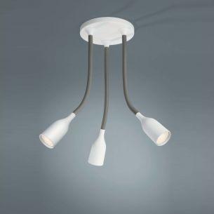 Energiesparende Deckenlampe mit drei flexiblen Armen