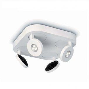 LED-4er-Spotquadrat weiß