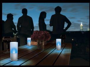 CandlelLights in Blau im 3er Set - überall einsetzbar - Zum Ein- und Ausschalten Kerze einfach kippen blau