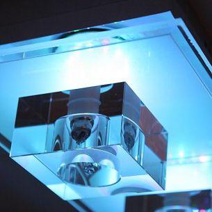 Deckenleuchte mit LED Farbwechsel, inklusive Leuchtmittel, 3 flammig