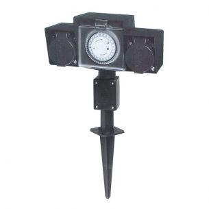 2- fach- mit Zeitschaltuhr, 43,50 cm, 19,00 cm, 6,50 cm
