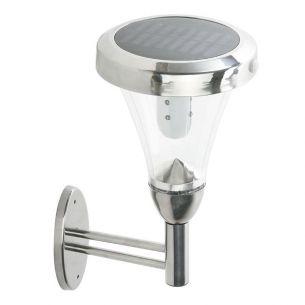 Solar-LED-Wandleuchte aus Edelstahl mit Bewegungsmelder und Standbyfunktion