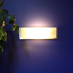 Wandleuchte in Aluminium gebürstet, inklusive Leuchtmittel