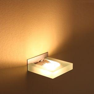 Wandleuchte aus satiniertem Glas, inklusive Leuchtmittel