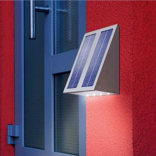 LED-Solar Wandleuchte  - mit Lichtstrahlrichtung Boden